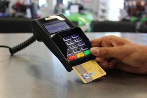 Оплата банковскими картами через терминал